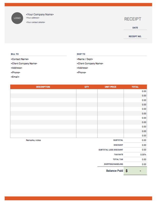 Receipt-Template-discount-calculate