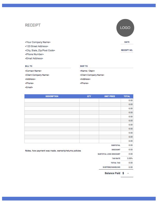 Receipt-template-Blue header